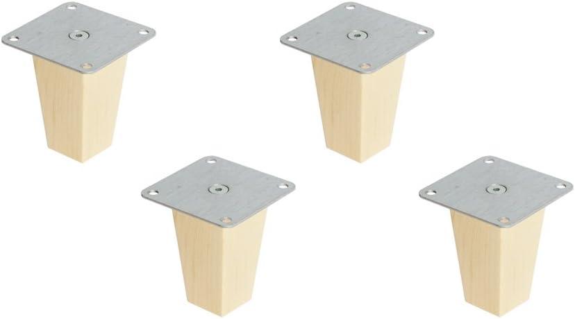 IKEA Kallax - Juego de 4 patas para muebles (madera de haya)
