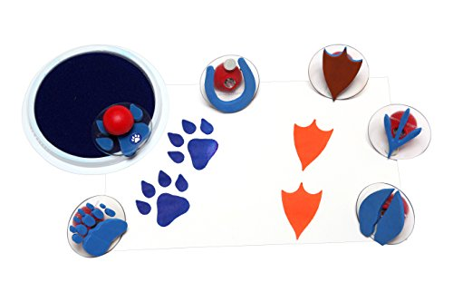 Paws Art (Center Enterprise CE6761 READY2LEARN Giant Animal Paw Print Stamps (Pack of 6))