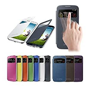LZX Smart View Screen Touch PU Leather Case for Samsung S4 9500 (Assorted Colors) , Black