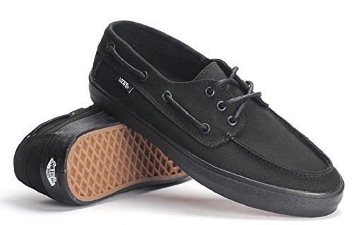 Vans Chauffeur SF Black/Black Men's Boat Shoes (13 Men's)