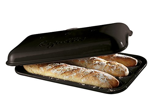 Emile Henry Made In France Baguette Baker, 15.4 x 9.4