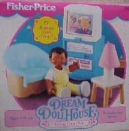 Amazon Com Fisher Price Loving Family Dream Dollhouse 1994 Living