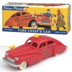 Dimestore Dreams 20020 Fire Chiefs Car 1 43 Plastic Retro Look