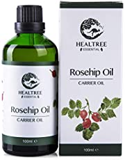 HEALTREE Rosehip Oil 100ml (100% Pure & Natural Cold Pressed Virgin Grade) | Perfect for Skin Care, Face Moisturiser, Body Massage, mix with Essential Oils | Australian Made, GC Analysis Attached