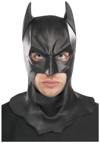 Rubie's Costume Batman The Dark Knight Adult Batman Full Overhead Latex Mask  Black  One Size ()