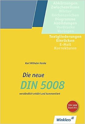 Die Neue Din 5008 Schülerband Amazonde Karl Wilhelm Henke Bücher