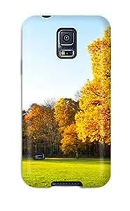 High Grade NewArrivalcase Flexible Tpu Case For Galaxy S5 - Autumn Trees Landscape