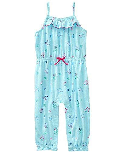 Gymboree Girls Pants - Gymboree Baby Girls 1-Piece Long Pant Bodysuit, Pool Blue, 0-3 mo