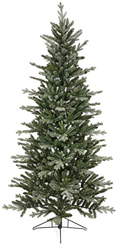 The Tree Company 7ft Frozen Spruce Christmas Tree with Metal Base, 2.1 metres, Green/White (Trees Christmas Pe Uk)