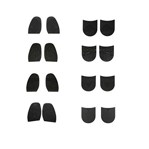Diy Accessoire Chaussures Gazechimp Talon Réparation Caoutchouc De Antidérapant Semelle 1paire En Cordonnerie 4 8Ag8TZ