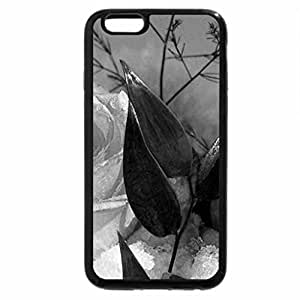iPhone 6S Plus Case, iPhone 6 Plus Case (Black & White) - Beautiful two roses