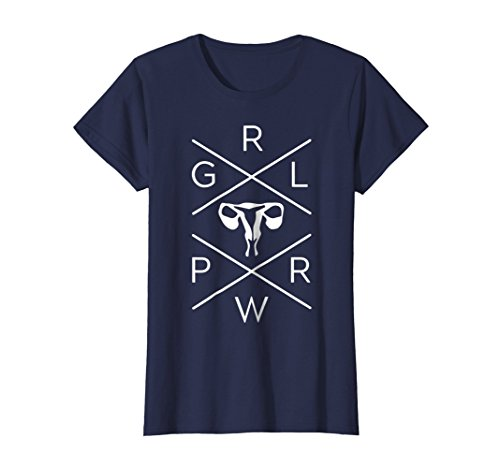 Womens Uterus GRL PWR Shirt - Girl Power