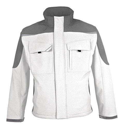 BESTWORK Softshell Jacke weiß/grau Gr. M M,Weiß/Grau