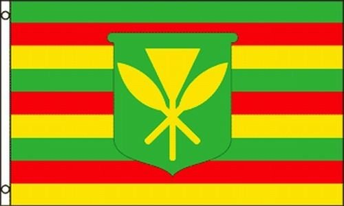 Be_Bra Kanaka Maoli Flag 3x5 ft Original Native Hawaiian True People Hawaii Kamehameha