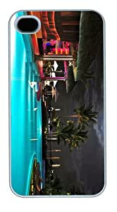 case fashion Luxury Resort Pool PC White Case for iphone 4/4S