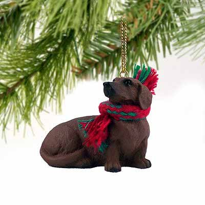 - Dachshund Miniature Dog Ornament - Red