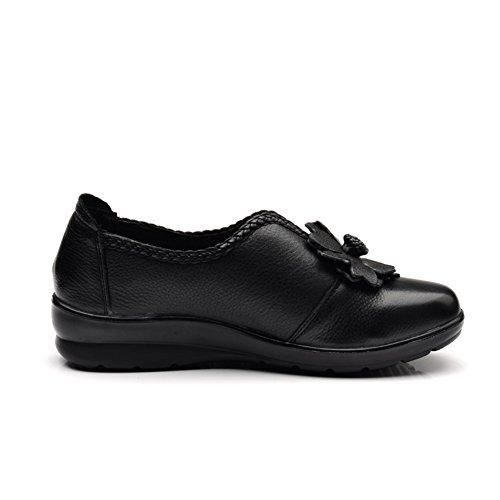 Pisos de otoño/ calzado cómodo/Mamá y fondo suave zapatos A