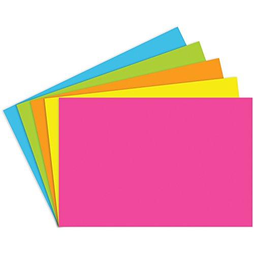 Notch Index (Top Notch Teacher Products TOP361BN Index Cards 4X6 Blank Brite Assorted, Grade Kindergarten to 1, 4