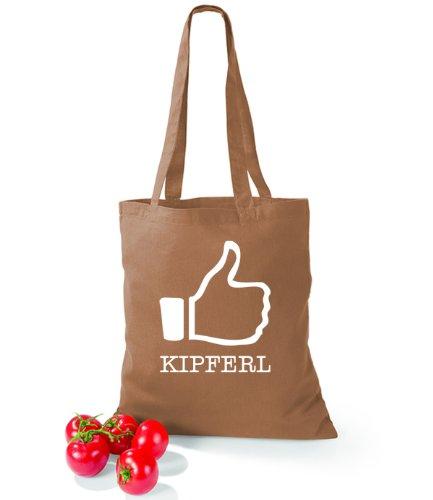 Artdiktat Baumwolltasche I like Kipferl Caramel SsI3Oci0