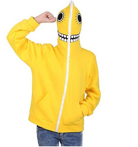 Xcoser V+ Matryoshka Masked Hoodie Zip Up Sweatshirt Costume Yellow M]()