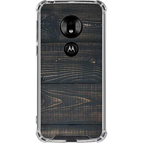 Skinit Black Painted Wood Moto G7 Play Clear Case Studios Original Design Phone Case Clear - Transparent Moto G7 Play Cover