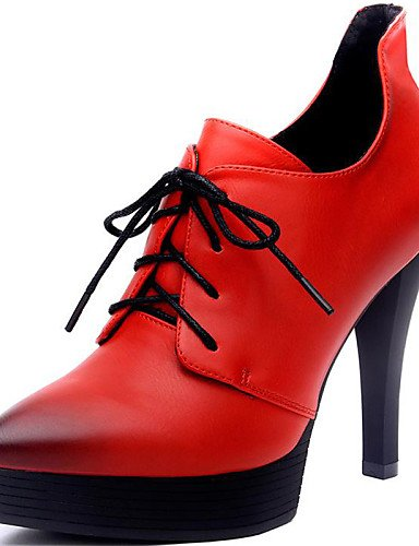 red Stiletto Rojo Tac¨®n Oficina eu37 eu39 us6 eu39 Noche cn39 uk6 ZQ cn39 us8 Negro Tacones red uk6 7 Trabajo de Zapatos mujer 5 us8 y 5 5 cn37 uk4 red Tacones Fiesta y Sint¨¦tico qZ0xAIFtw