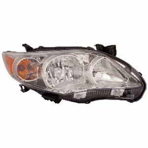 Go-Parts » 2011-2013 Toyota Corolla Front Headlight Assembly Replacement Housing/Lens/Cover - Right (Passenger) Side - (Base Model + CE + L + LE + S) 81110-02B50 ()