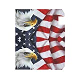 ALAZA Welcome Mailbox Covers Magnetic Eagle and USA American Flag Patriotic Post Box Cover Wrapped Oversize 25.4 x 20.78 Inch for Garden Yard Decor