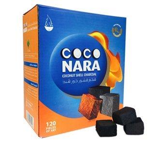 120 Pieces Coco Nara Charcoal Natural Coconut Hookah Shisha Coal (Best Coco Hookah Coals)