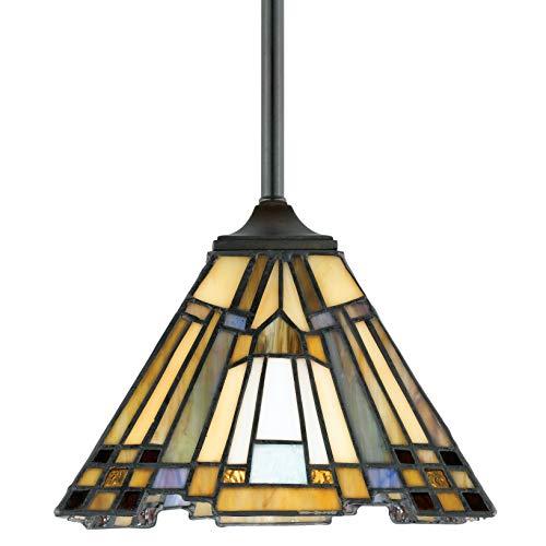1 Light Honey Pendant - Quoizel TFIK1508VA Inglenook Tiffany Mini Pendant Lighting, 1-Light, 100 Watts, Valiant Bronze (7