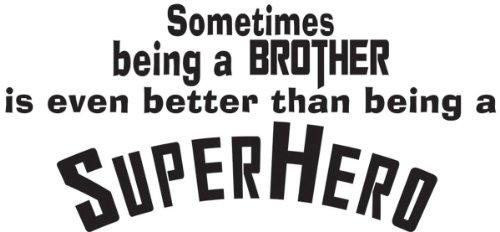 (Superhero Brother Vinyl Wall Quote Decal Kids Room Decor Superhero Saying)