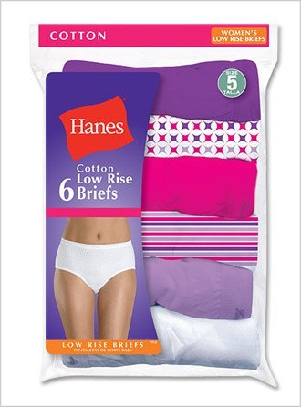 5 Low Rise Brief Panty - Hanes Women's No Ride Up Low Rise Cotton Brief 6-Pack