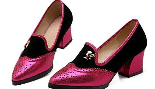 YCMDM donne da damigella d'onore scarpe da lavoro Scarpe Large Size singoli pattini Sandali , red , 36