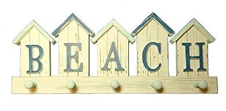 Stock4u Diseño de casetas de Playa/Playa diseño náutico Gancho Toalla diseño de Cinco/para Abrigos/Soporte: Amazon.es: Hogar
