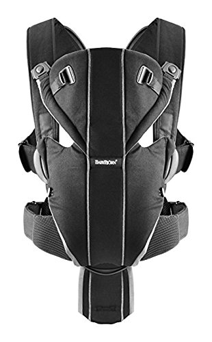 BABYBJORN Baby Carrier Miracle – Black Silver, Cotton
