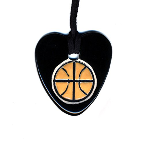 Ceramic Nba Basketball - Surly-Ramics I Heart Basketball Ceramic Pendant Necklace