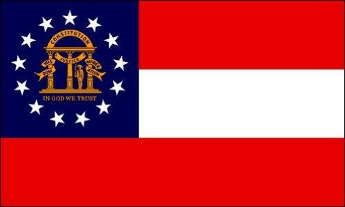Georgia Flag 2ft x 3ft Nylon - Outdoor