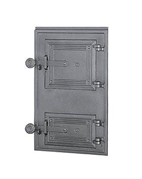 Estufa Puerta Horno de piedra para puerta del horno Puerta Madera Puerta Horno Parrilla de hierro fundido 465 x 290: Amazon.es: Jardín