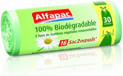 Alfapac - Bolsas de basura biodegradables con asas, 100 ...
