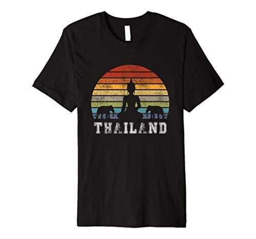 Thailand Buddha Vintage Design with Elephants / Gift Premium T-Shirt