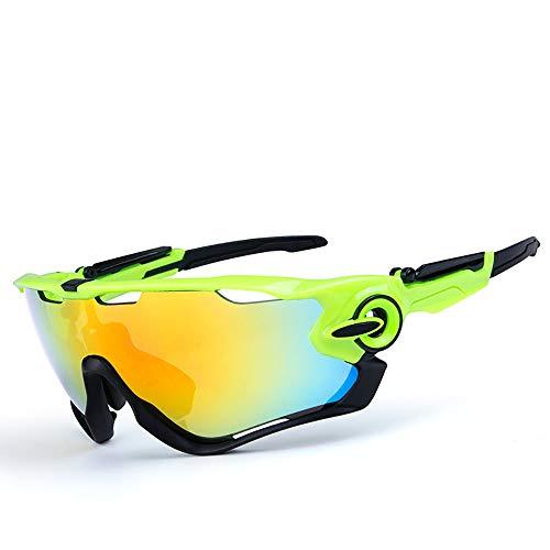 HYHMJ Bicycle Goggles, Ski Sunglasses, Outdoor Polarized Anti-Fog Riding Glasses, Convertible Lenses, Adjustable Nose Pads,E