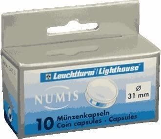 Pack of 10 41 MM LightHouse Coin Capsules