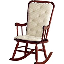 Baby Doll Bedding Heavenly Soft Adult Rocking Chair Cushion Pad Set with newly updated thicker seat cushion(Char not included)