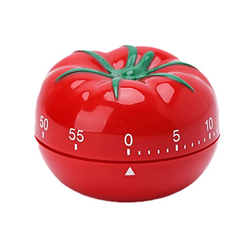 SYCYKA Novelty Kitchen Timer Mechanical Rotating Alarm for Cooking, Baking (tomato)