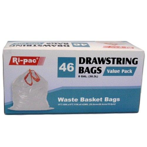 Dollaritem 819625 Wholesale Ri-Pac Wastebasket Bags 46Ct 8Gl X