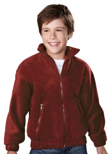 Tri-mountain Youth panda fleece jacket. - MAROON - Small