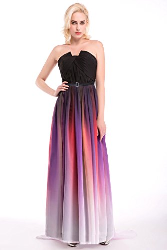 Evening Long Gradient Multi3 Women's Dress Chiffon Drasawee xqHvI5