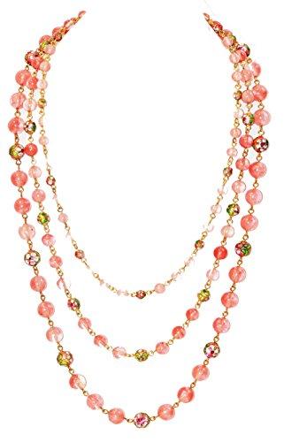 Cherry Quartz Glass Necklace (20