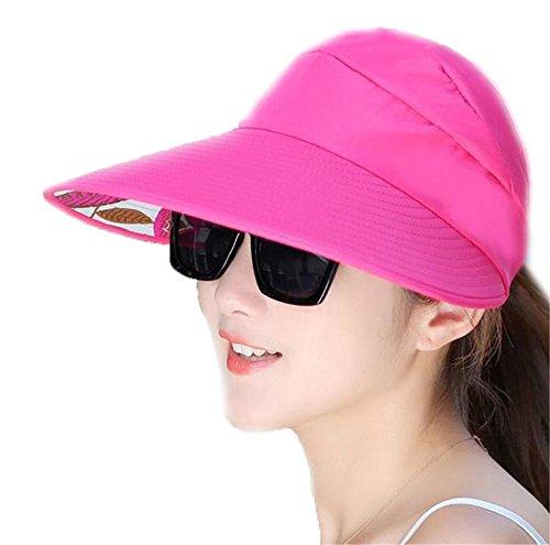 Rankei Women Folding Foldable UV Protection Sun Hat Visor Sunscreen Floppy Cap Femme Outdoor Beach Hat ()