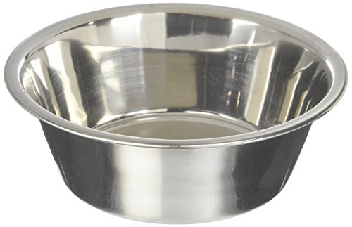 Bergan Stainless Steel Dog Bowl, 11-Cup (2 Quart Dog Bowl)